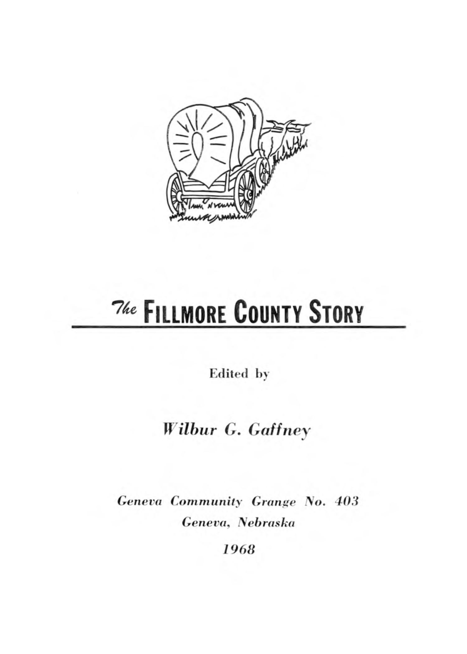 The Fillmore County Story, cover image