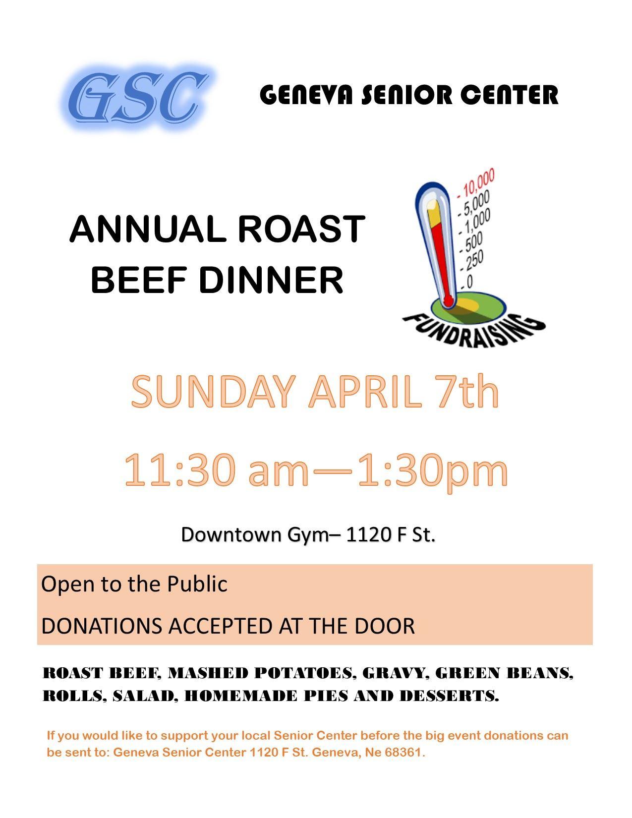 2019 roast beef fundraiser