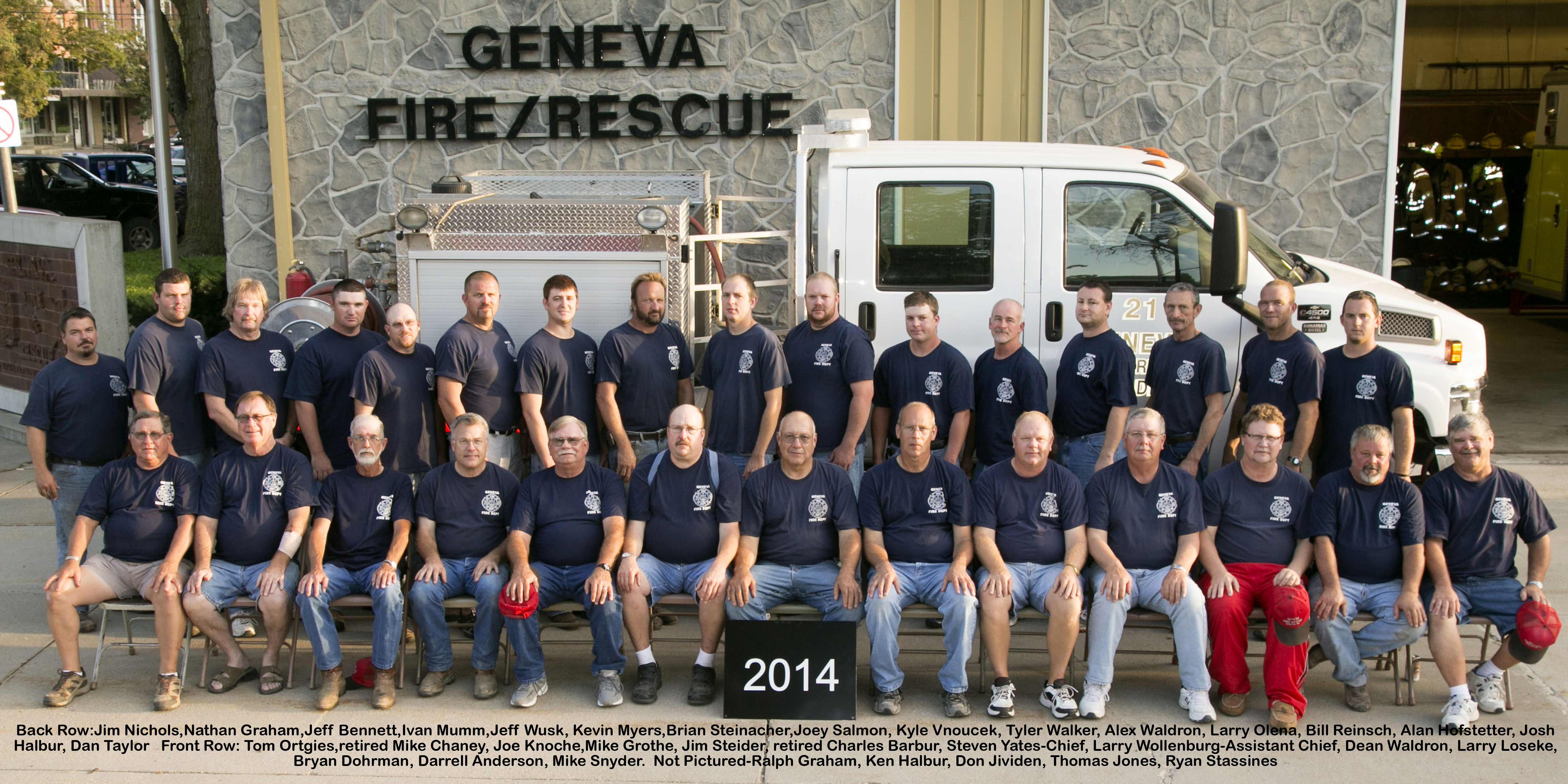 Geneva Fire Dept2014with names