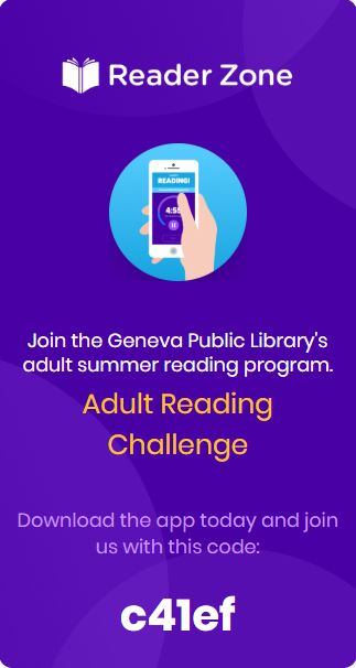 The ReaderZone adult reading program code is c41ef.