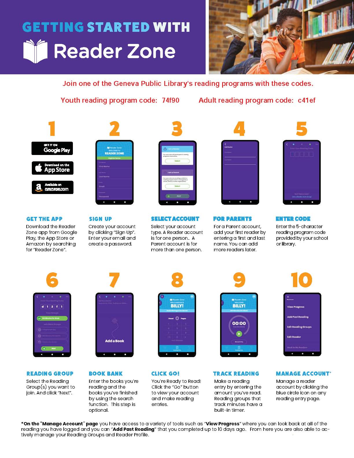 Reader Zone getting started guide